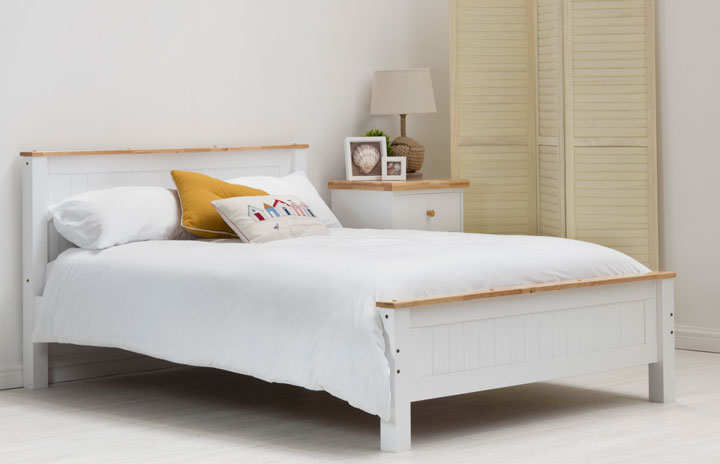 Torquay Classic Shaker Style Solid Wood Bed White