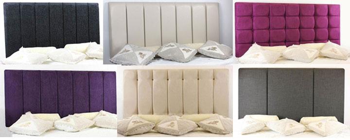great value  pocket sprung divan bed and memory foam mattress set, Headboard designs