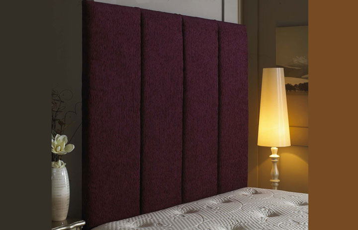 Aquarius Panel Chenille Wallboard Aubergine