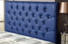 Bedford Buttoned Faux Leather Headboard Blue