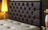Bedford Buttoned Faux Leather Headboard Brown