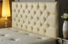 Bedford Buttoned Faux Leather Headboard Cream