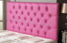 Bedford Buttoned Faux Leather Headboard Pink