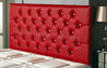 Bedford Buttoned Faux Leather Headboard Red