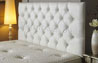 Bedford Buttoned Faux Leather Headboard White