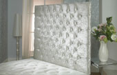 California-Wallboard Crushed Velvet Buttoned Wallboard Ivory