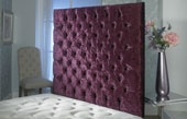California-Wallboard Crushed Velvet Buttoned Wallboard Maroon