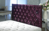 California Crushed Velvet Buttoned Headboard Maroon