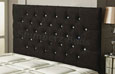 Carlton Buttoned Chenille Headboard Black