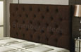 Carlton Buttoned Chenille Headboard Brown