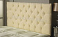 Carlton Buttoned Chenille Headboard Cream