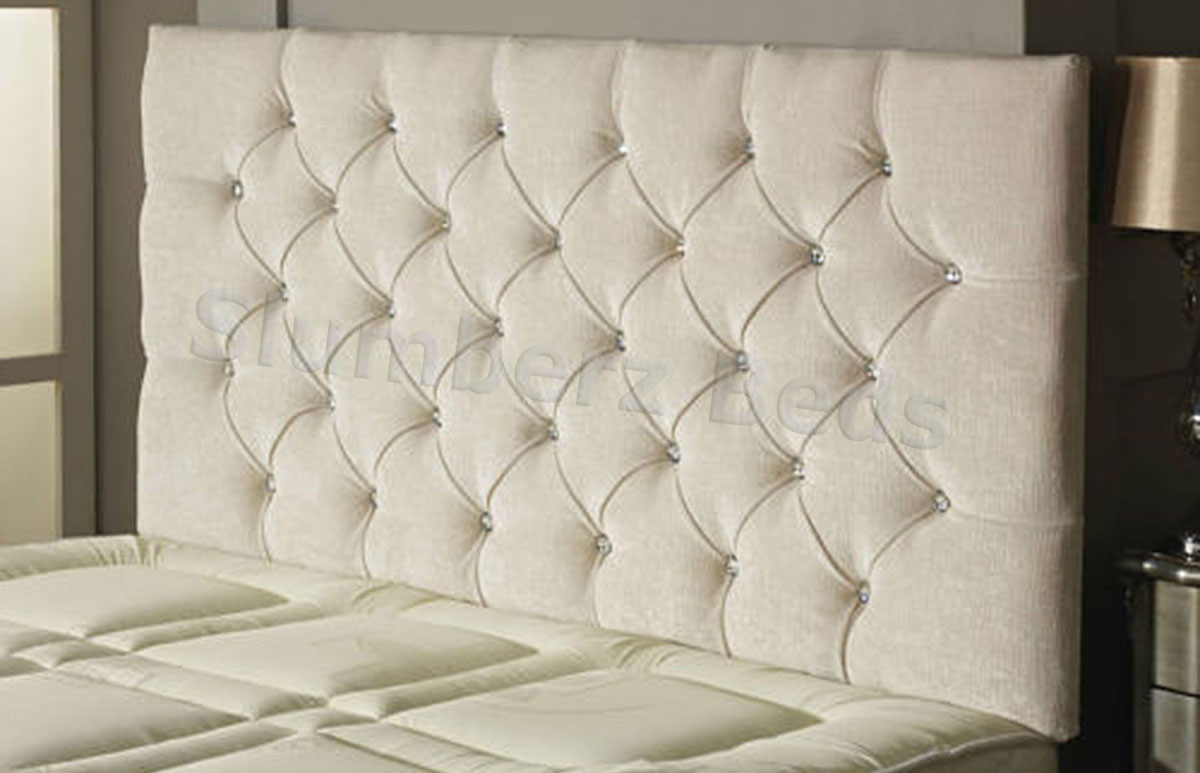 Ivory Leather King Size Bed