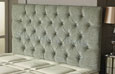 Carlton Buttoned Chenille Headboard Meadow
