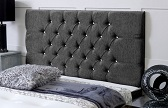 Chelsea_Chenille Deep Buttoned Chenille Headboard Charcoal