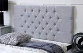 Chelsea_Chenille Deep Buttoned Chenille Headboard Grey