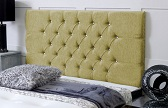 Chelsea_Chenille Deep Buttoned Chenille Headboard Lime