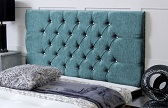 Chelsea_Chenille Deep Buttoned Chenille Headboard Teal