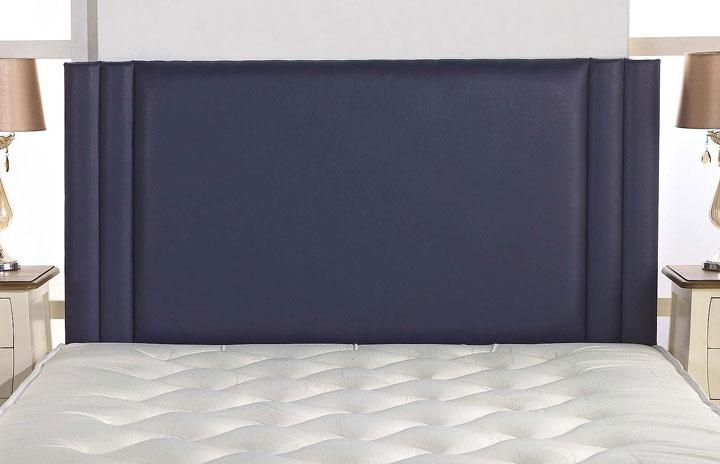 Harvey Ribbed Edge Faux Leather Headboard Purple