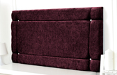 Idaho-Ch Border Design Chenille Headboard Aubergine