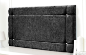 Idaho-Ch Border Design Chenille Headboard Charcoal