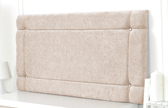 Idaho-Ch Border Design Chenille Headboard Cream