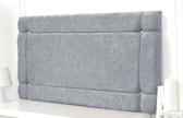 Idaho-Ch Border Design Chenille Headboard Grey