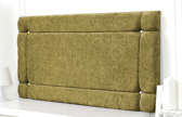 Idaho-Ch Border Design Chenille Headboard Lime