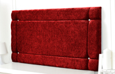 Idaho-Ch Border Design Chenille Headboard Red