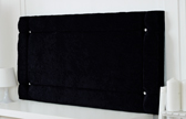 Idaho-Cv Border Effect Crushed Velvet Headboard Black