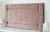 Idaho-Cv Border Effect Crushed Velvet Headboard Champagne
