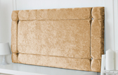 Idaho-Cv Border Effect Crushed Velvet Headboard Gold