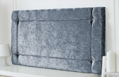 Idaho-Cv Border Effect Crushed Velvet Headboard Grey