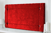 Idaho-Cv Border Effect Crushed Velvet Headboard Red