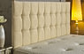 Opera Buttoned Chenille Headboard Cream