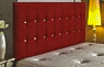 Opera Buttoned Chenille Headboard Red