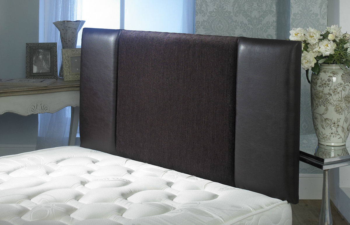 Oxford Chenille Faux Leather Headboard