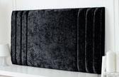 Riverdale-Cv Column Design Chenille Headboard Black