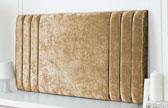 Riverdale-Cv Column Design Chenille Headboard Gold