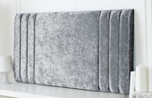 Riverdale-Cv Column Design Chenille Headboard Grey