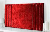 Riverdale-Cv Column Design Chenille Headboard Red