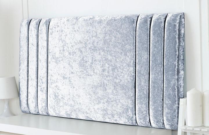 Riverdale-Cv Column Design Chenille Headboard Silver