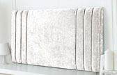 Riverdale-Cv Column Design Chenille Headboard White