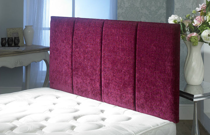 Sultan 4 Vertical Panel Chenille Maroon