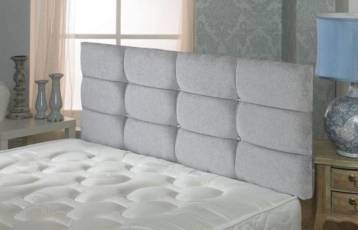 Velmont Deep Buttoned Cubed Chenille Light-Grey