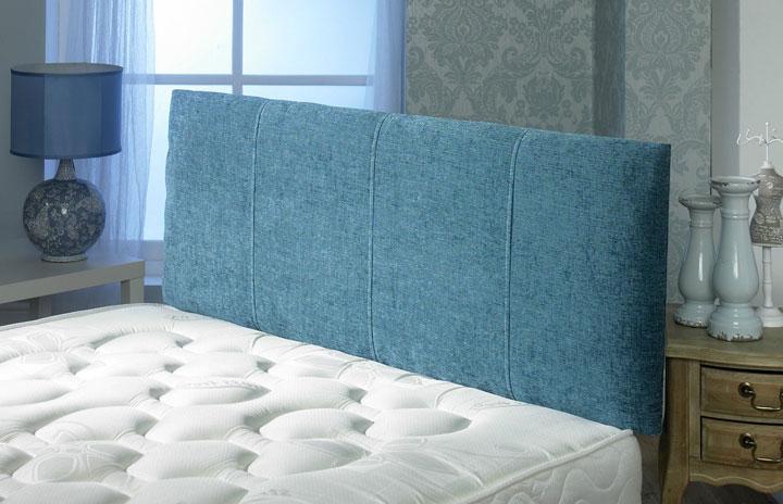 Venice Chenille Stitched Vertical Panel Headboard Aqua