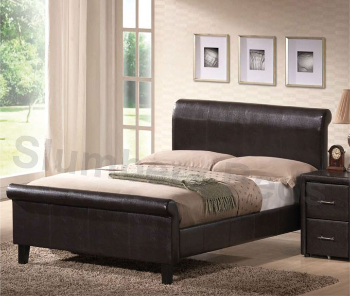 Magenta Faux Leather Bed Frame