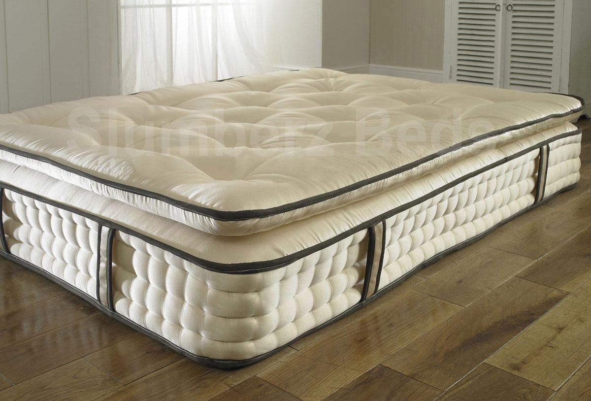 pillow top 2000 pocket spring 30cm organic mattress. Black Bedroom Furniture Sets. Home Design Ideas