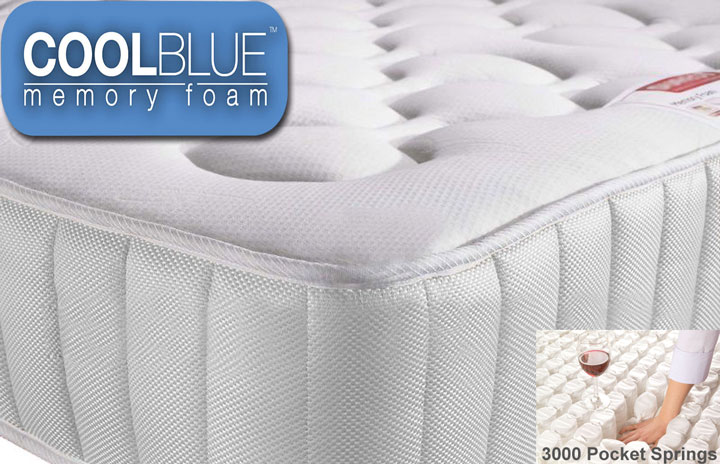 Value 3000 Pocket Cool Blue Memory Foam Mattress