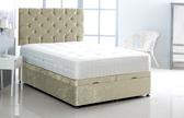 Alexis-Ottoman-Crushed-Velvet Ottoman Storage Bed In Crushed Velvet Cream