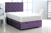 Alexis-Ottoman-Crushed-Velvet Ottoman Storage Bed In Crushed Velvet Purple
